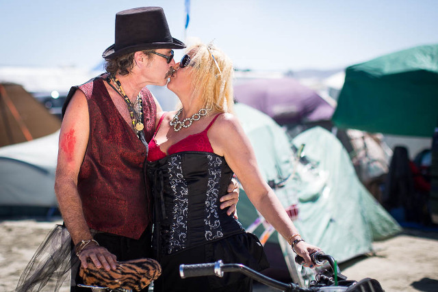 Scott and Julie Lunt at Burning Man 2014