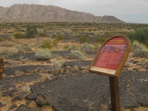 Lava trail sign Pinacate by Puerto Penasco
