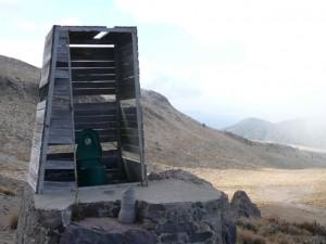 Orizaba toilet Piedra Grande hut Mexico