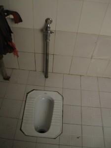 Squat toilet in Guilin China