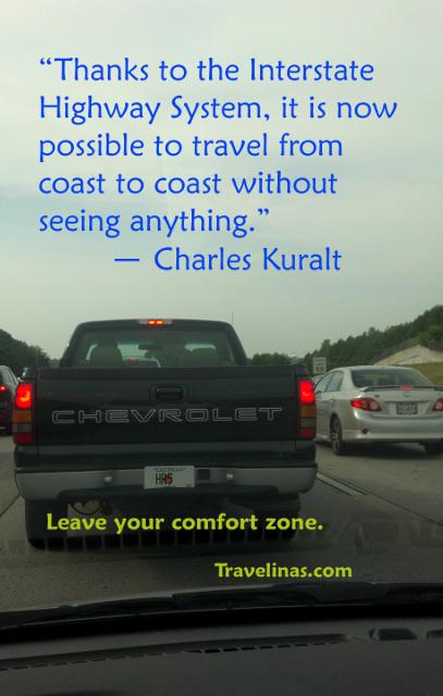 Traffic jam Kuralt quote