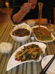 meal in Chinese restaurant