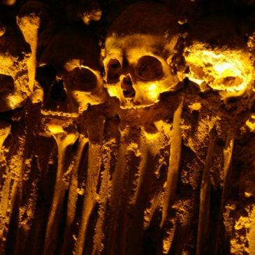Portugal — Staring at destiny in Evora's Chapel of Bones.