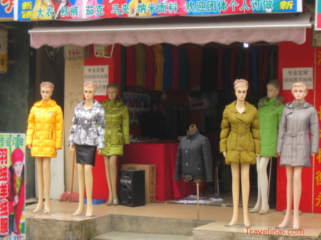 Mannequins in China