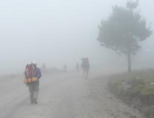 trekkers on Pico de Orizaba