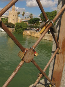 Locks on Seville Bridge