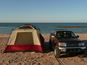 camping on Sandy Beach in Rocky Point