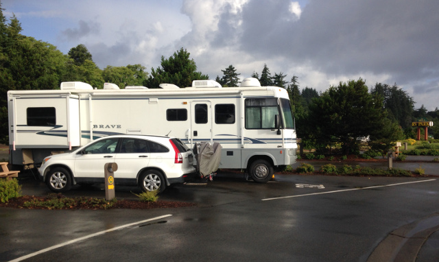 Nice RV Park at Mills Casino in Coos Bay