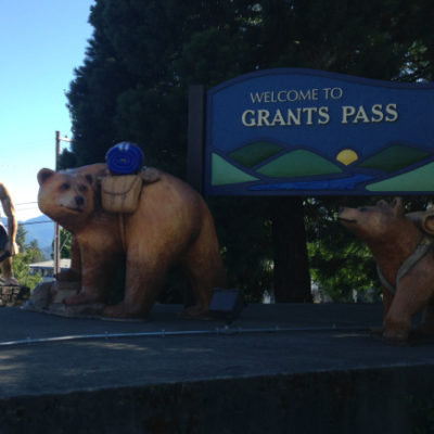 Strange creatures live in Grants Pass, including backpacking bears