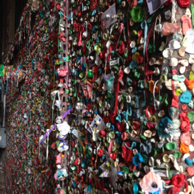 Surreal, and slightly sickening Gum Wall in Seattle