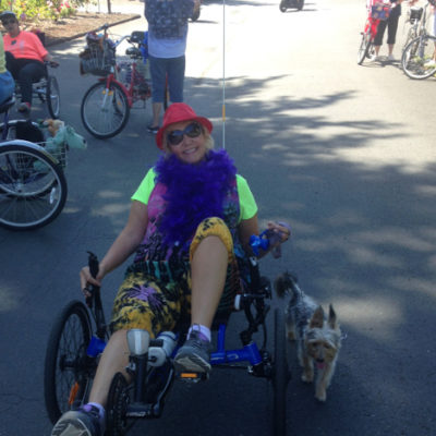 Evergreen-Coho SKP park had a dog and bicycle parade!