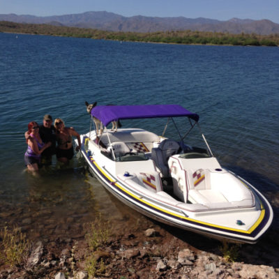 Pleasant boating at Lake Pleasant
