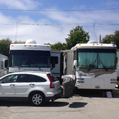 Seacliff Center, Aptos. More like RV storage, than RV parking. But close to the beach!