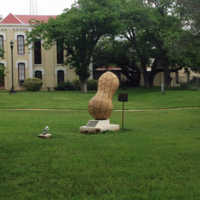 Peanut King memorial in Floresville