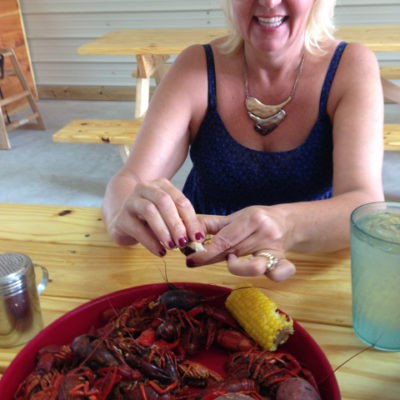 Attacking a crawdad boil without fear