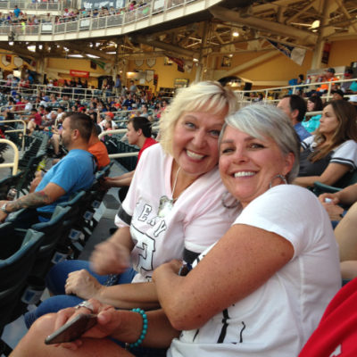 Lori and Julie at an Isotopes baseball game
