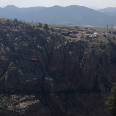 The Royal Gorge Bridge and tram