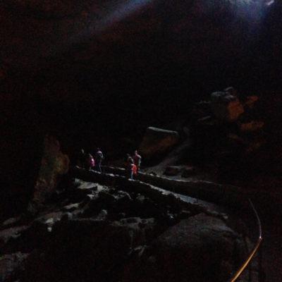 Descending into Carlsbad Caverns