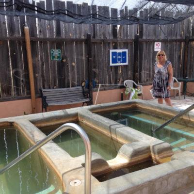 Bath house pools at Faywood Hot Springs