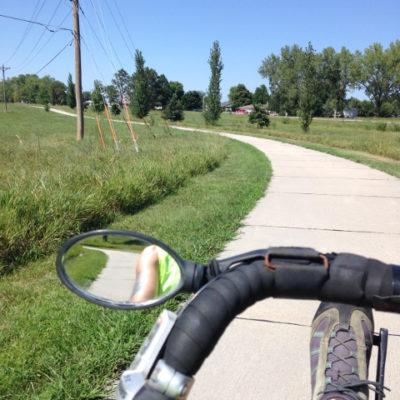 Great bike path around Johnson Lake, Nebraska