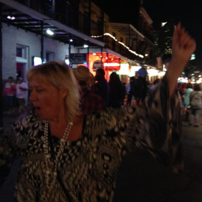 Bourbon Street never stops partying