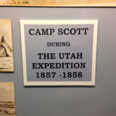 Should be Camp Travelinas Expedition, 2015. Fort Bridger, Wyoming