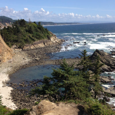 A coast that beckons to be explored. Cape Arago, south of Coos Bay.