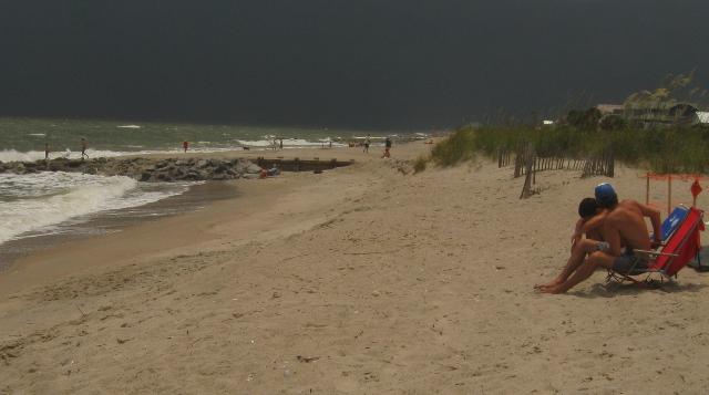 Storm rolling in over Edisto Beach, SC