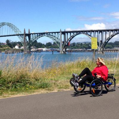 Windy, but nice ride along Newport bike paths