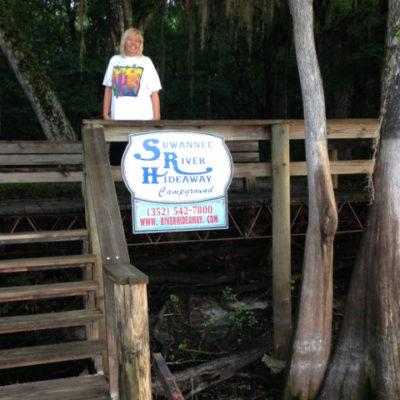 Jungle Julie by the swamp boardwalk, Fanning Springs