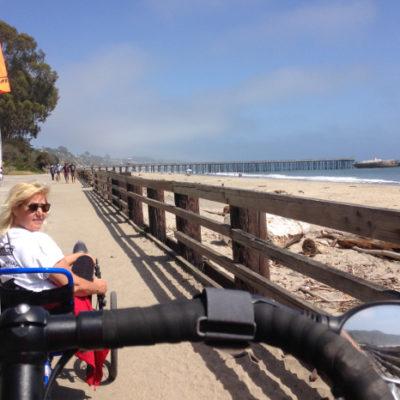 Love riding along the beach. Seacliff State Beach.