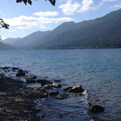 Beautiful Crescent Lake on the Olympic Peninsula
