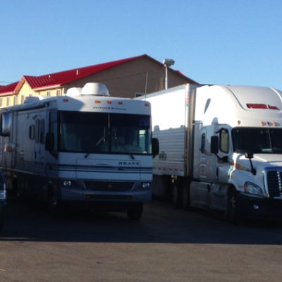 Spent a noisy night at a Laramie, Wyoming truck stop