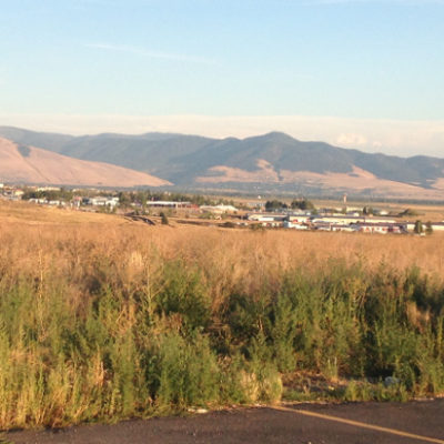Missoula from our truck stop porch