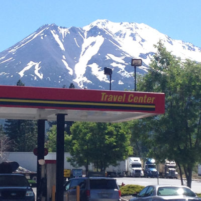 Mt. Shasta from Weed, California
