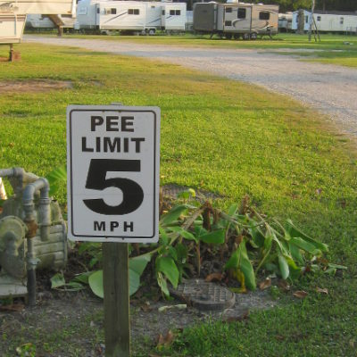 Humor at Richard's RV Park in New Orleans