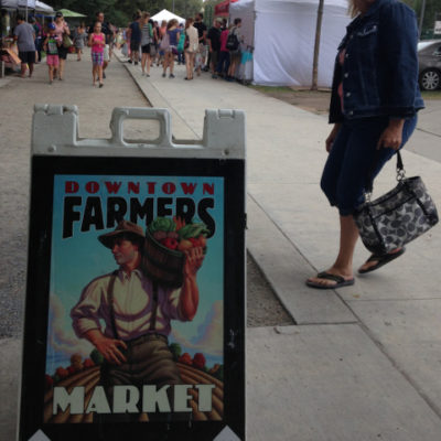 Salt Lake City has come a long way to have a big farmers market. We've come a long way since living here.