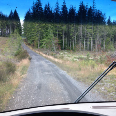 Now this is a back road! Estacada.