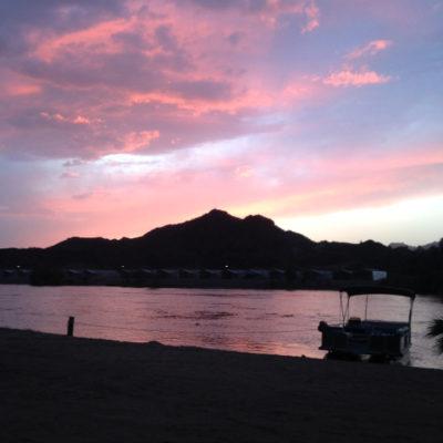 La Paz County Park sunset, Parker Arizona