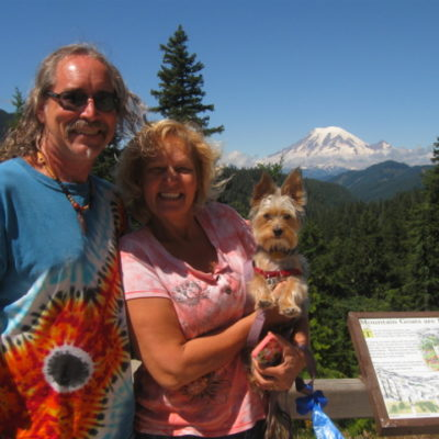 Spectacular view of Mt. Rainier, and we almost missed it!