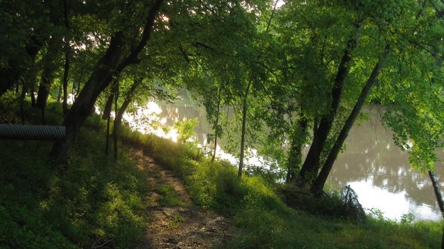 The lazy Colorado River, La Grange, Texas