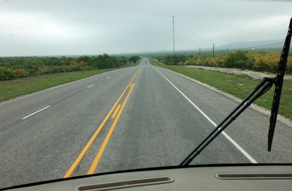 Highway 90 view between Del Rio and San Antonio