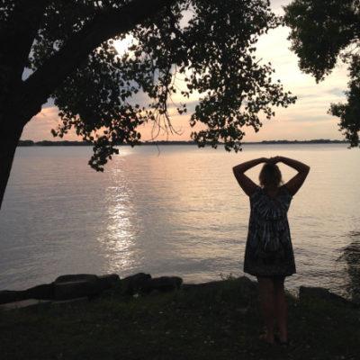 Johnson Lake sunsets were stunning