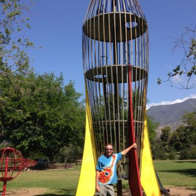 Ojai had this fantastic retro playground equipment.