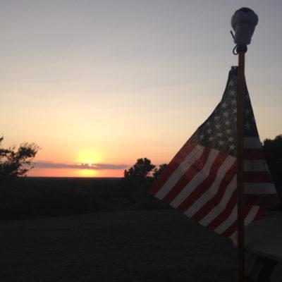 Sunset over Oklahoma hills
