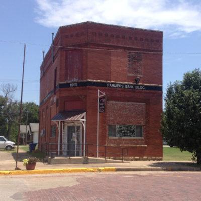 Downtown Davenport, Oklahoma along Route 66