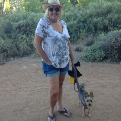 Peanut loved our daily walks along the Rio Grande