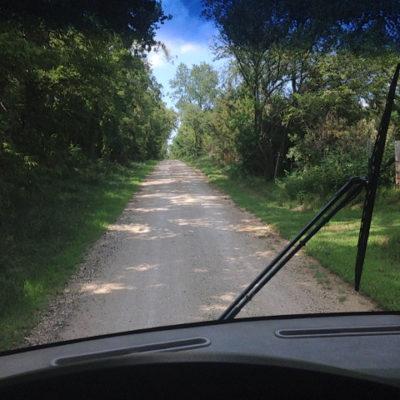 Kansas back road south of Topeka