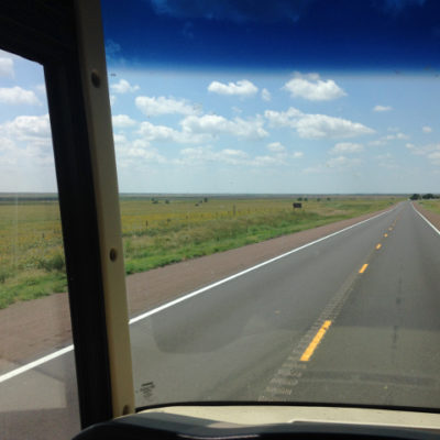 Route 50 in western Kansas. This how we always imagined Kansas... flat and treeless