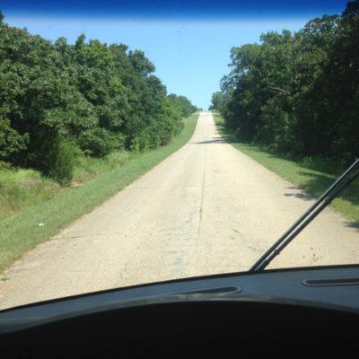 Back road near Depew, Oklahoma